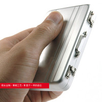 best briefcases - Hot Mini Briefcase Business Card Case Coin Case Aluminium Credit Card Holder best quality