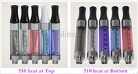 Electronic Cigarette Atomizer Clear Hottest e-smart e cig 808D and 510 atomizer tank clearomizer fit for ego 510 EVOD battery mini ce4 e smart e cigarette DHL Free shipping