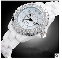 Wholesale 2014 Vintage Women Ceramic Watches Ladies Fashion Candy Jelly Watches Brand Trendy Quartz Watches Diamond Dial