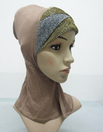 Wholesale H149 lastest shiny ninja underscarf muslim hijab fast delivery mixed colors