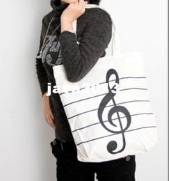 Wholesale Whosale Hot shopping bag hot beach bag casual canvas bag music notes handbag shoulder bag