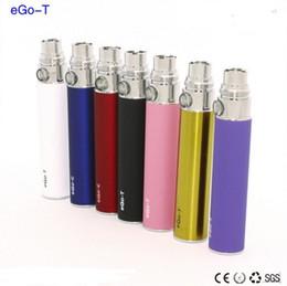 DHL Top quality 650mAh 900mAh 1100mAh eGo-T battery for eGo W eGo C e-cigarette Multi Colors fit mt3 t2 protank Glass Globe core tank