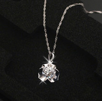 Wholesale necklace female pure silver necklace chain sparkling cubic zircon chain silver jewelry girlfriend gifts