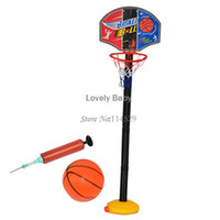 Birth to 24 Months Unisex Basketball Children's sports Intelligence toys learn basketball stands with Tie Pump Children Outdoor and Indoor Toys Set