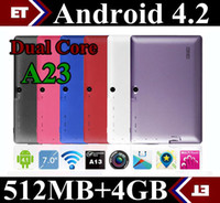 Wholesale 10units Original inch colors Dual Core single camera dual camera Android tablet pc Q88pro Allwinner A23 GHz Capacitive Screen