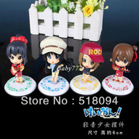 Wholesale Cute K ON Mio Akiyama Yui Hirasawa PVC Action Figure Collection Model Toy set KOFG003