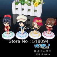 Wholesale Cute K ON Mio Akiyama Yui Hirasawa PVC Action Figure Collection Model Toy set KOFG003