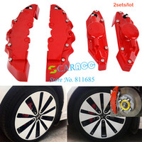 Wholesale Newest sets Universal Car Auto Front Rear Disc Brake Caliper Cover with Brembo RD color red
