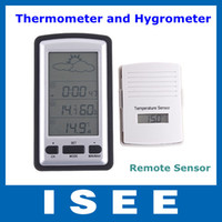 Cheap New Digital Smart wireless Remote Sensor Thermometer Hygrometer Weather Station Free Shipping