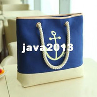 anchor rope bag - HOT SALE retro Navy School of wind beach bag anchor rope canvas bag shoulder bag women s messenger bags brand handbag