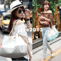 Wholesale New Fashion Korean Shoulder Bag Hobo Purse Faux Leather Shopping Totes