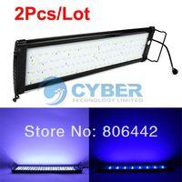 Wholesale 2Pcs quot LED Fish Tank Aquarium Light Lamp Blue White EU Plug TK0537