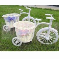 Wholesale 1pcs Tricycle Bicycle Baskets pastoral Home Decoration Storage Basket Creative Decoration