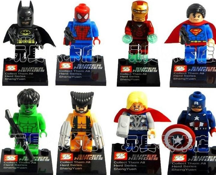 Buy SY180 Super Heroes Avengers Iron Man Hulk Wolverine Thor Building Blocks Sets DIY Bricks Toys without package box