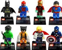 achat en gros de iron man avengers-SY180 Super Heroes Les Vengeurs Iron Man Hulk Batman Wolverine Thor Blocs de construction Ensembles DIY Bricks Jouets sans boîte de paquet