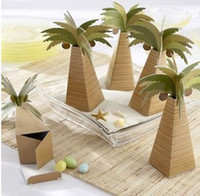 Wholesale Wedding Party Boys Favors Candy Box Coconut Tree Paper Fashion Favors Holders Candy Packaging B2654