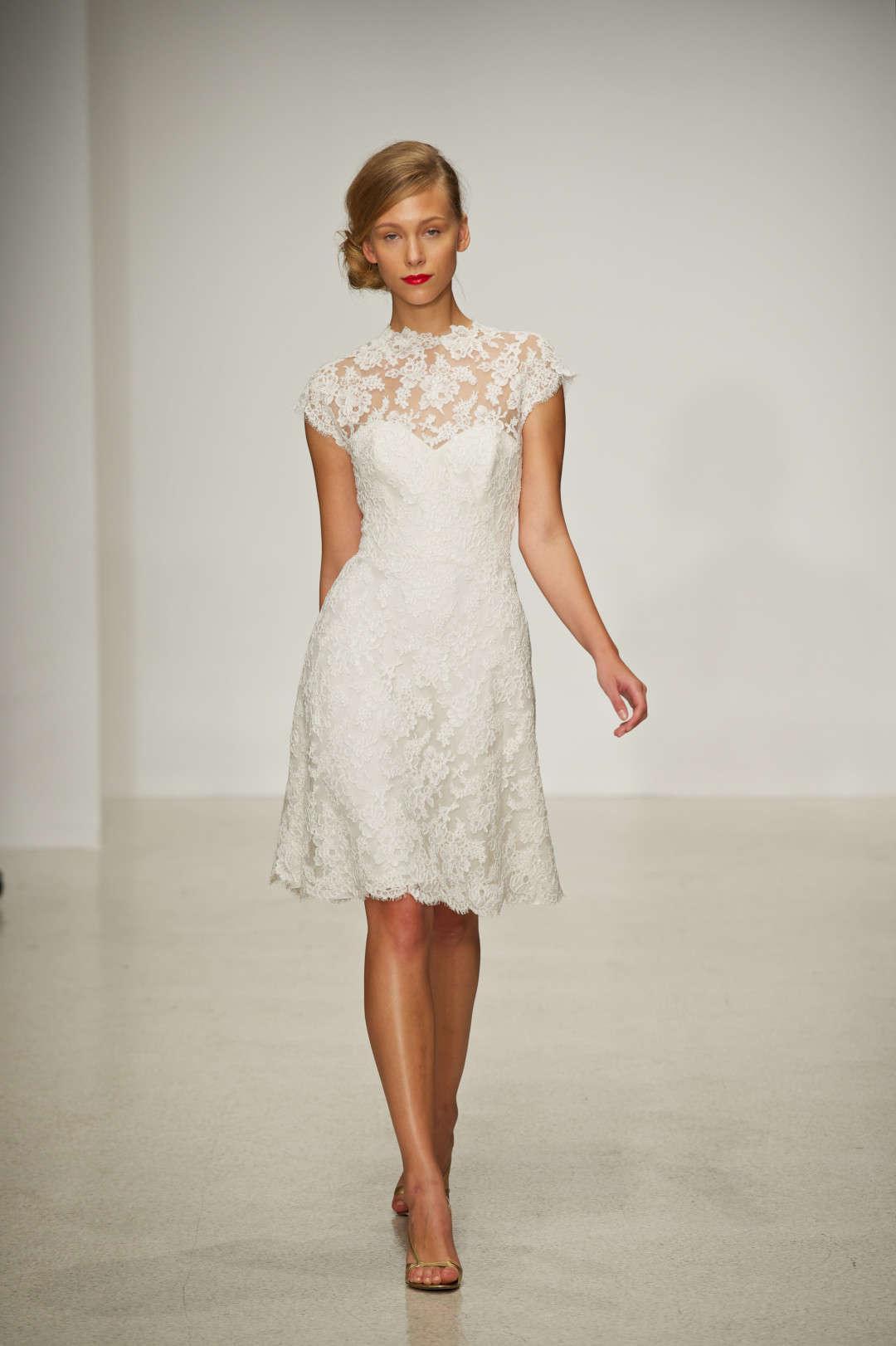 Discount a line wedding dresses 2014 spring amazing high for Knee high wedding dresses