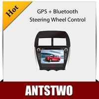 Wholesale Hot inch MITSUBISHI ASX Car DVD GPS Player Car Stereo Navigation Radio Audio Bluetooth A2DP Steering Wheel Control