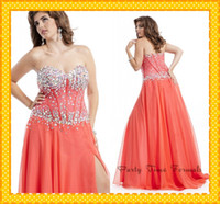 Wholesale 2014 Charming Designer Lace Crystals Plus size Evening Prom Dresses Chiffon Sweetheart Pleated New Formal Pageant Special Occasion Dresses