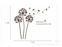 Wholesale Dandelion in the memory Home room Decor Removable Wall Sticker Decal Decoration