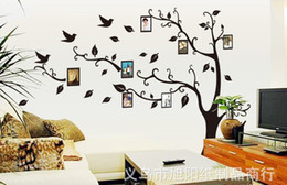 Wholesale 200 CM memory tree wall sticker Family Picture Photo Frame Tree Wall Quote Art Stickers Fast Shipping XXL Size