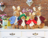 Wholesale childrens baby s adults valentine s day gift peter rabbit easter bunny plush toys christmas Easter day toys gift