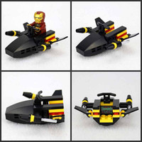 Wholesale 2014new Styles Super Hero Spider Man motorcycle Batman Aberdeen chariot Iron Man building blocks toys