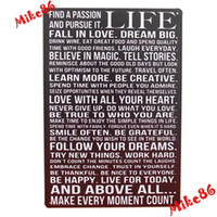 Metal Yes Antique Imitation [ Mike86 ] Life Poem Metal Tin Signs wall decor House Office Restaurant Bar Metal Painting art B-117 Mix order 20*30 CM