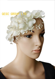 Ivory Bridal fascinator with Beads and pearls Wedding Accessory and Bridal Accessories.