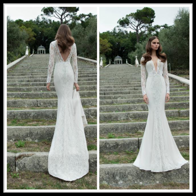 Long Sleeve Lace Wedding Dresses 2014 - Missy Dress