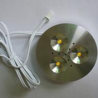 al por mayor blanca 12v llevó el conductor-110V AC 220V Focos blanco caliente 3W LED debajo del gabinete, luz para la iluminación de la cocina con un controlador externo