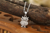 Wholesale 2014 new bird jewelry night owl bird pendants genuine pure sterling silver pendants with gold plated for love s ZJ P58