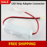 Wholesale 30PCS x New LED Strip Light to Power Supply Connectors with a Switch ON OFF for MM MM Flexible LED Strip