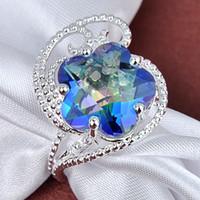 mystic topaz - 925 silver Jewelry natural mystic topaz gemstone silver rings R0372