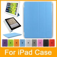 Wholesale Thin Leather Stand Case Cover For Apple iPad iPad iPad iPad mini Built in magnet for sleep wake feature