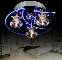 Wholesale Fashion LED crystal absorb dome light sitting room bedroom European contracted creative lighting