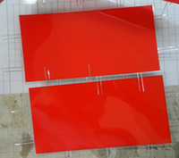 Wholesale Red color Cuttable EL Sheet A5 SIZE El BackLight Sheet El LED Board Display with DC12V inverter