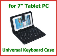 Keyboard Case 7'' Universal 50pcs Universal PU Leather Case with Keyboard for 7 inch Android Tablet PC Wholesale Colorful Leather Case in Stock