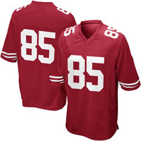 Wholesale 49ers Vernon Davis Footbal Jerseys American Football Wears Top Quality Outdoor Apparel Pro Bowl Championship High Quality Apparel