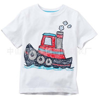 Wholesale 2014 Kids Shirts Girls Boys Pure Cotton White T Shirts Jersey Boats Jumpers BabyTee Singlets Blouses Child Sport Casual Outfits C0683
