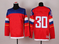 Cheap Wholsale Team Russia Ice Hockey Jerseys Vasilevski #30 Red for 2014 Sochi Winter Olympics Size 48-56
