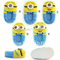 Wholesale Despicable Me pair inch Styles cute Despicable Me Plush slippers Stuffed Jorge Dave Stewart Doll Toy retail