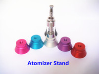 Electronic Cigarette atomizer stand atomizer display stand E-Cigarette Atomizer Metal Display Stand E Cig Clearomizer Holder For Ego Vaporizer Tank Vivi Nova ECT CE9 M8 Kanger Protank3