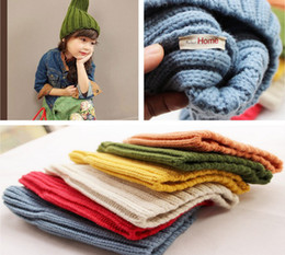 Wholesale Autumn Winter Children loveliness Coarse weave screw thread Set head Cap Boys Girls tall Hat Baby Kids Hats TS271