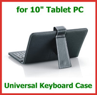 Cheap Keyboard Case Keyboard leather case Best 10.1'' Universal case with stand universal