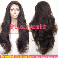 Wholesale New year gift virgin hair super wave full lace natural balck color high quality inch malaysian lace front wig density