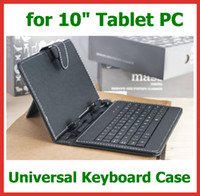 "Keyboard Case 10.1'' Universal 100pcs Universal Keyboard Case 10 inch for 10""   10.1"" Android Tablet PC Pipo M9 PRO Sanei N10 3G Ainol NOVO 10 Hero II Cover with Stand"