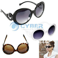 Cheap Wholesale - Hot Sale Fashion Cool Women Ladies Vintage Sunglasses Glasses with Swirl Arms 3 Colors 5466
