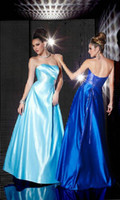 Cheap 2014 Newest Empire Strapless Bodice Full skirts Beaded belt Pleated Lace up Long A line Pageant dress Prom dresses