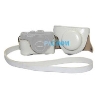 Wholesale New PU Leather Camera Case Bag Protector for Panasonic Lumix DMC LX7 White E5013B Fshow